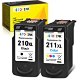 ATOPINK Remanufactured Ink Cartridge Replacement for Canon PG-210XL CL-211XL 210 211 XL 210XL 211XL (Black Color) Work with P
