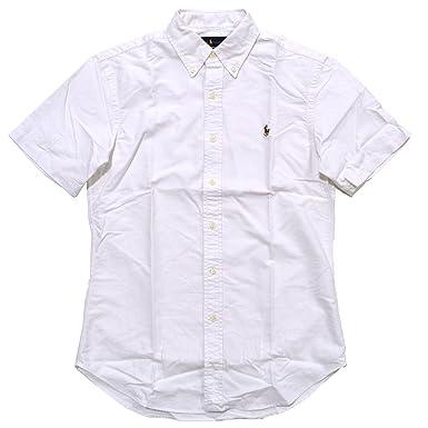 Ralph Lauren Men\u0027s Slim Fit Short Sleeve Oxford Shirt (X-Small, White)
