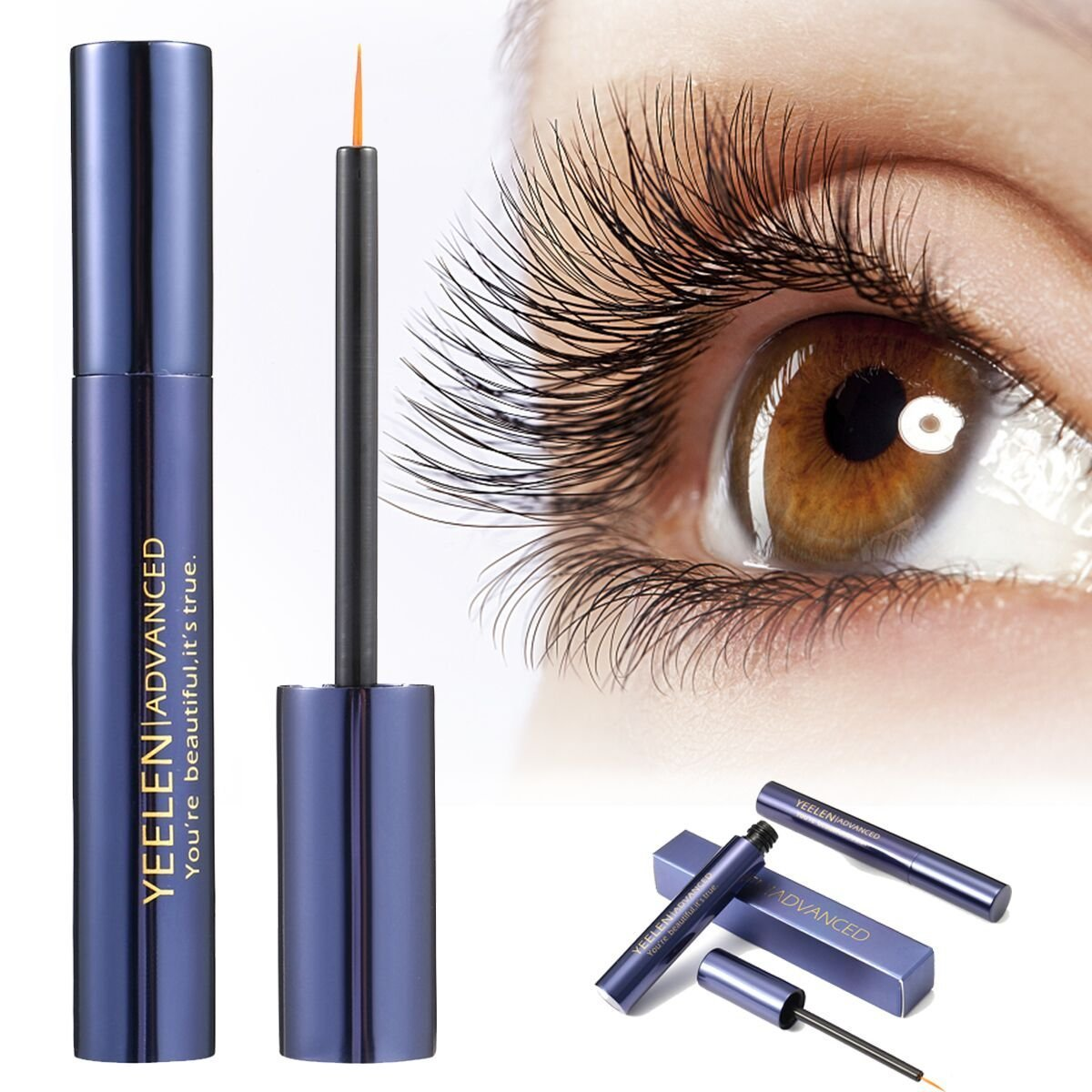 Yeelen Eyelash Eyebrow Growth Serum Grows Longer, Fuller, Thicker Lashes & Brows in 45 days! Enhancer Eyelash Conditioner Non-prescription Eyelash Serum 5ml