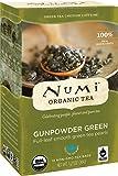 Numi Organic Tea Gunpowder Green, 18 Bags, Box of Traditional Green Tea in Non-GMO Biodegradable Tea Bags, Premium Organic Green Tea, (pack of 3)