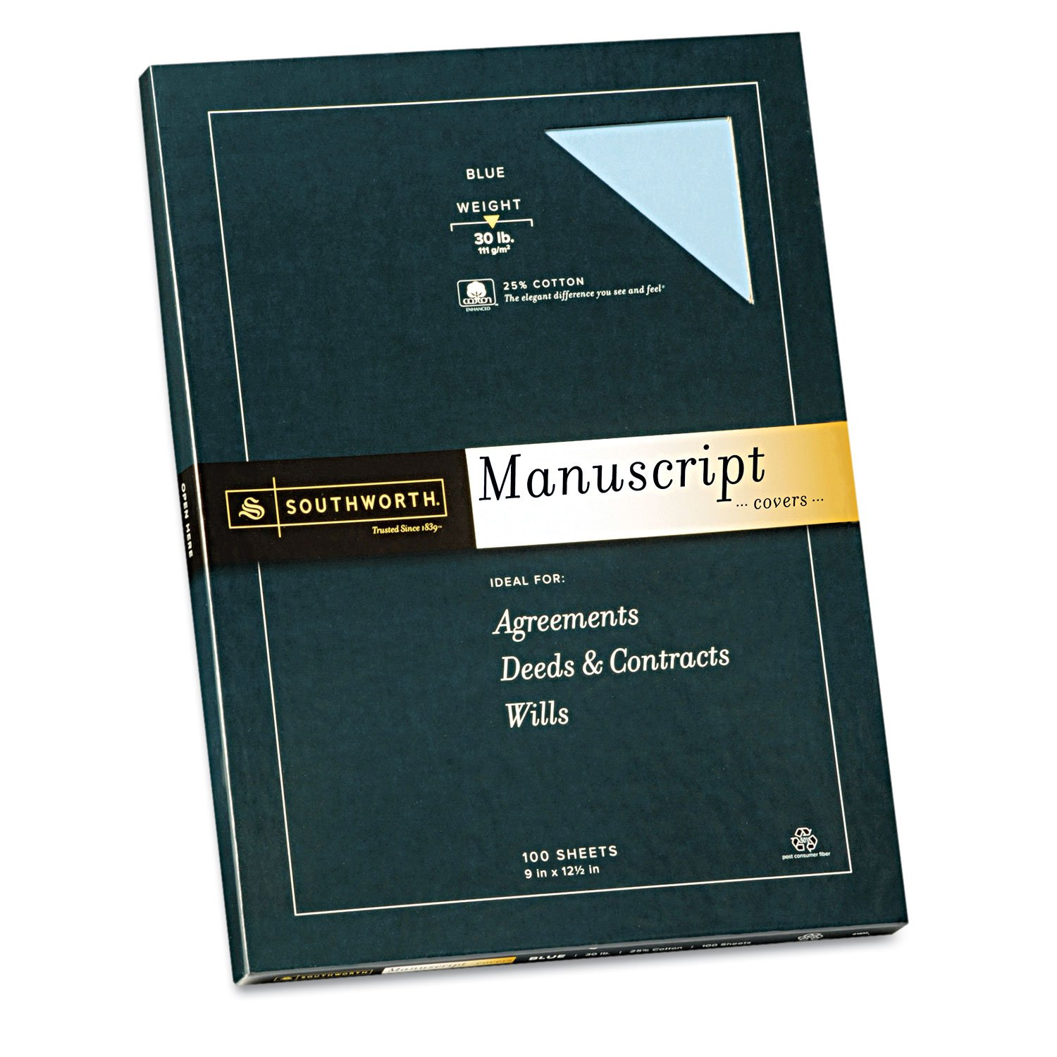 SOU41SM - Southworth 25% Cotton Manuscript Covers