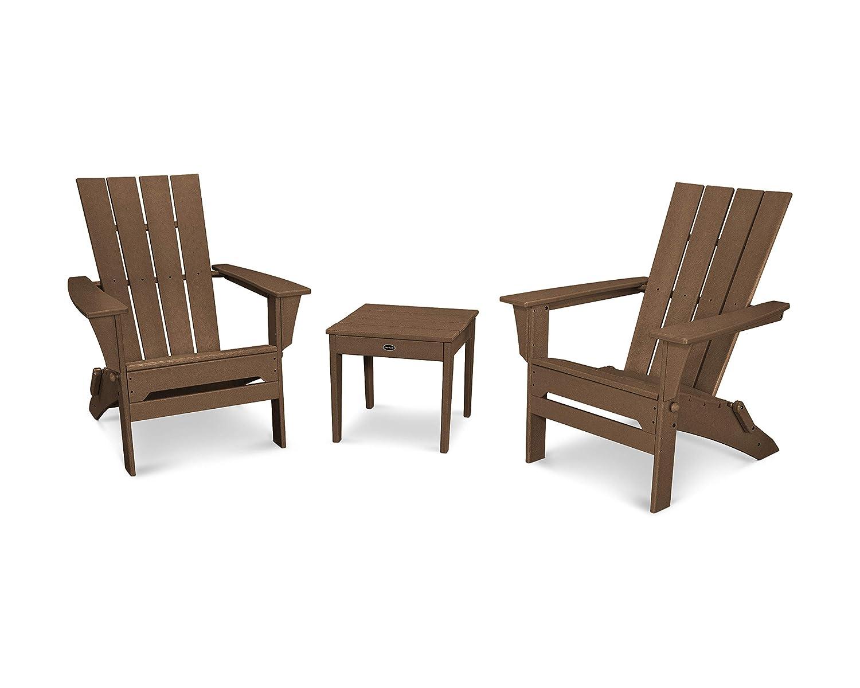 Amazon.com: polywood Quattro Adirondack de 3 piezas Set ...