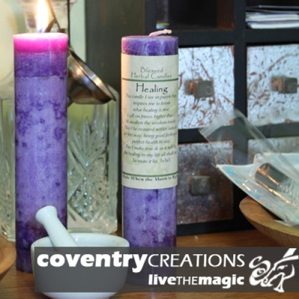 Blessed Herbal - Healing Candle Coventry Creations BHC-HE