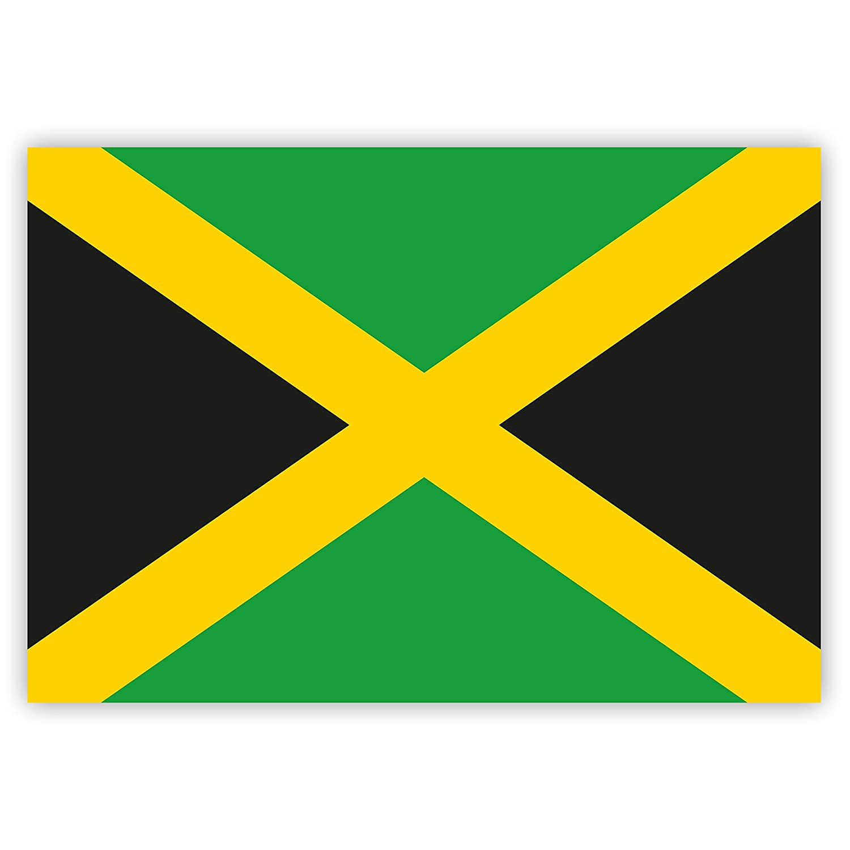 HouseholdBasics 1 x Aufkleber Jamaika-Flagge, 7,4 x 5,2 cm fü r Innen und auß en Gobrecht & Ulrich