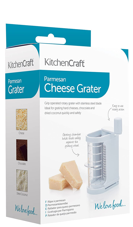 Amazon.com: KitchenCraft Parmesan Cheese Grater White Plastic- boxed ...