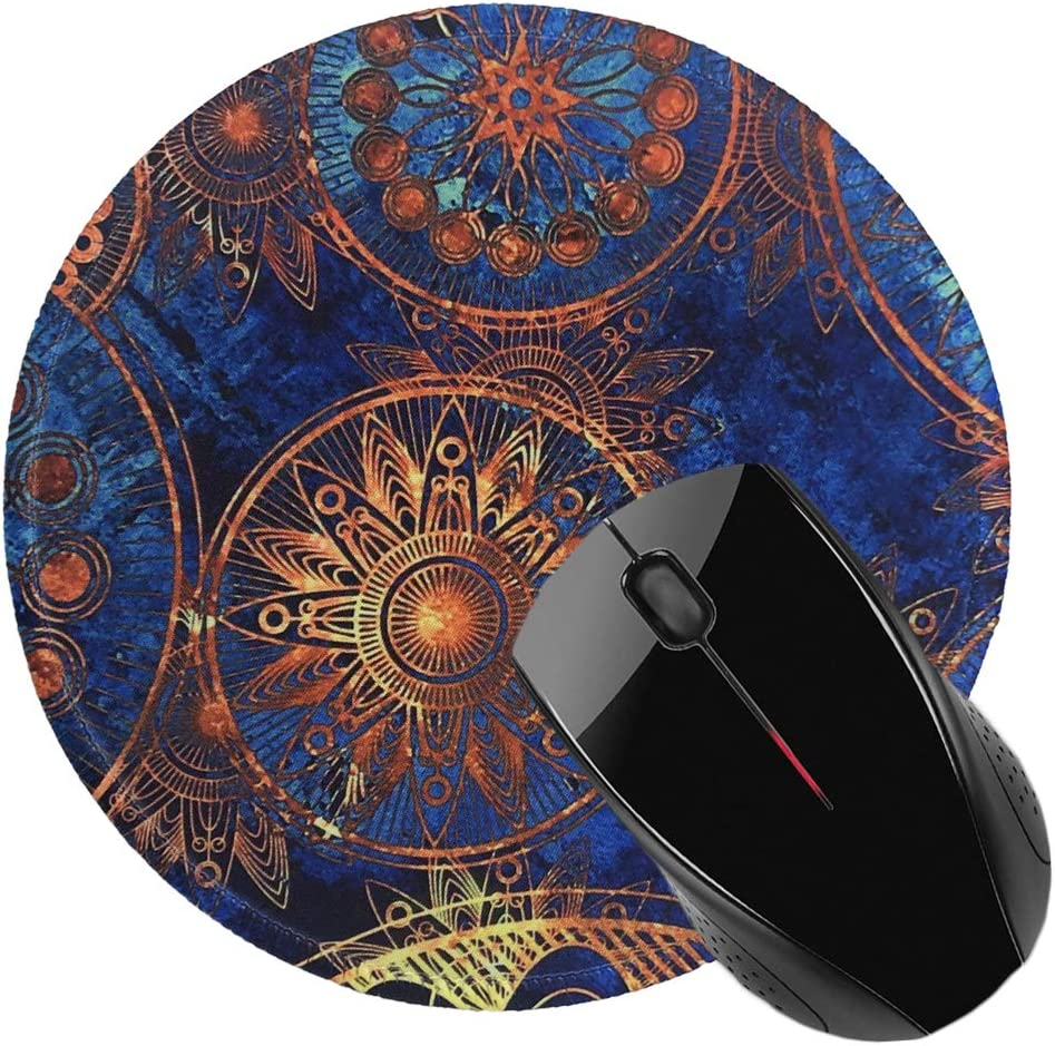 A-Orange Pink Marble Nakapa Mouse Pad,Anti Slip Rubber Round Mousepads Desktop Notebook Mouse Mat for Working and Gaming