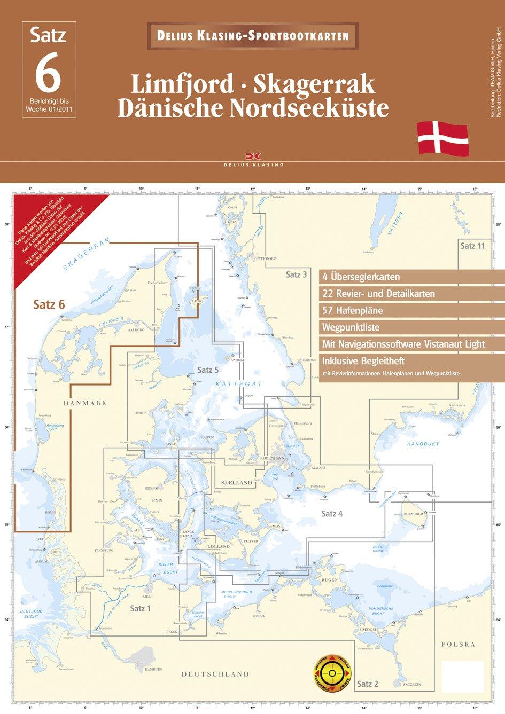 Limfjord - Skagerrak - Dänische Nordseeküste Landkarte – 21. März 2011 Delius Klasing 3768832066 Karten / Stadtpläne / Europa Wassersport / Segeln
