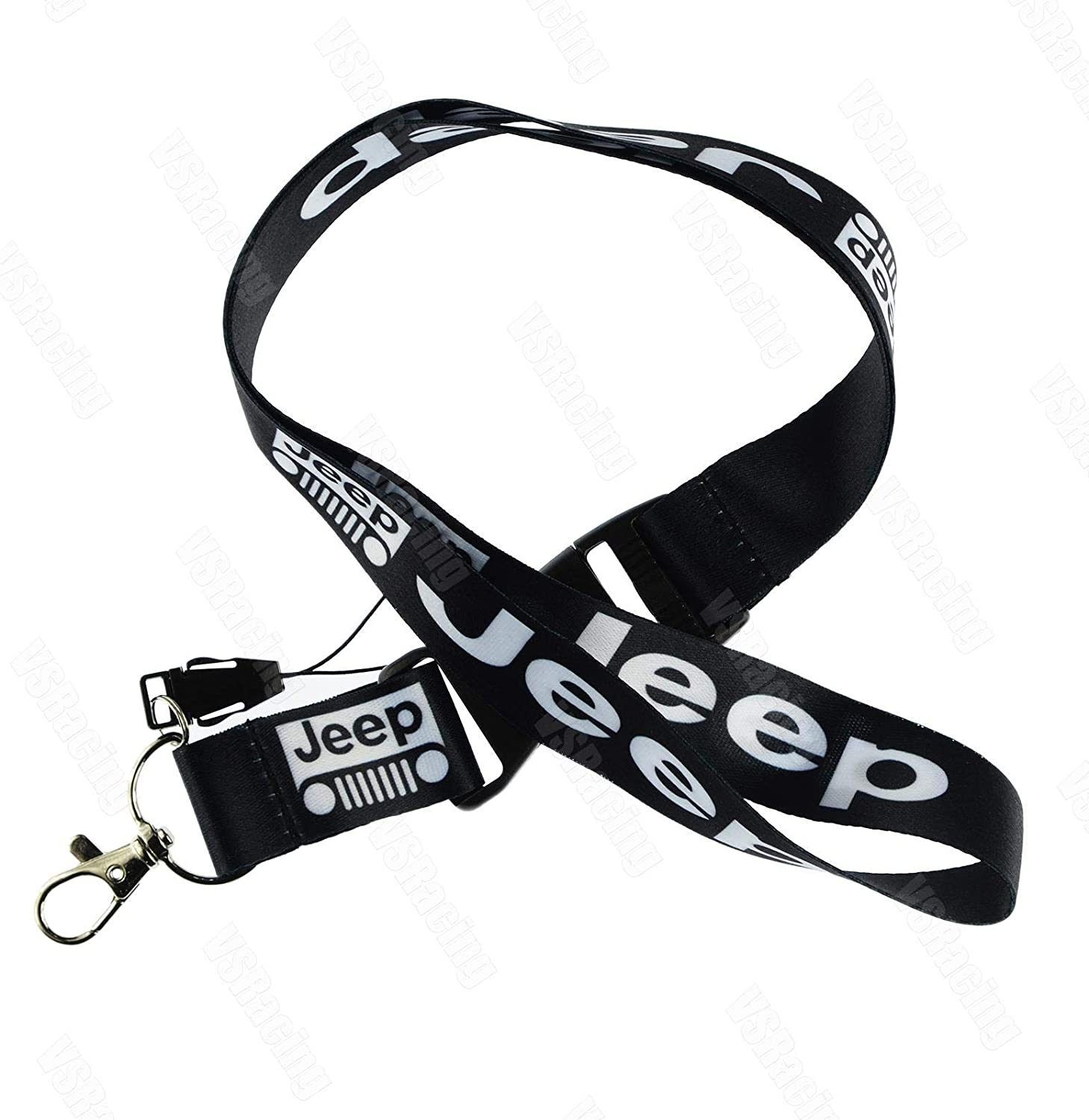 JDM Style Lanyard for Jeep Grand Cherokee Compass Wrangler Renegade Car Painting Cellphone Lanyard JDM Racing Car Keychain ID Holder Mobile Red