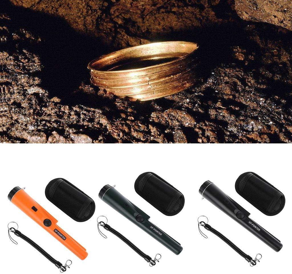 Yintiod Feststellen von GP-Pointer Digger Protable Metalldetektor Goldfinder mit Alarmleuchte