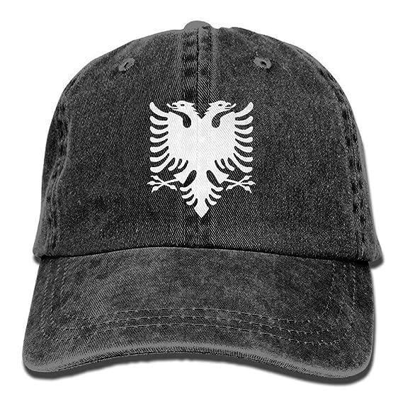 JIEKEIO Funny Baseball Caps Hats Albanian Eagle Unisex Adult Adjustable Leisure Dad Caps
