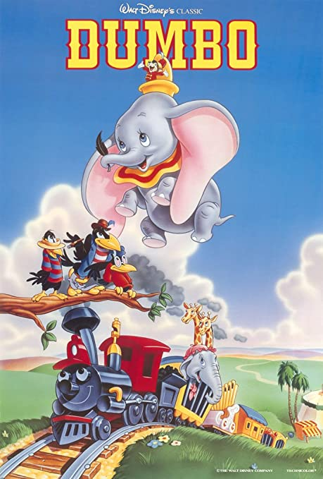 Dumbo Disney movie cartoon poster print #2