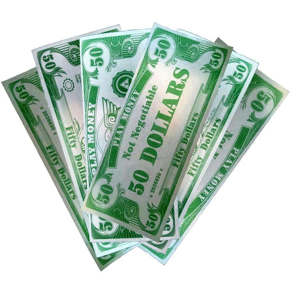 Novelty Play Phoney 1000 Pack Money Fake $50 Dollar Bills