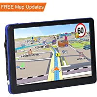 JRCX Car GPS, 7 inch 8GB Real Voice Vehicle GPS Navigator, Navigation System for Cars, Lifetime Map Updates, Car Charger & On-dash Mount Included Lifetime Maps