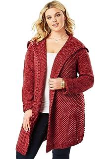 c1da132889b62c Roamans Women s Plus Size Embellished Cardigan with Fringe at Amazon ...