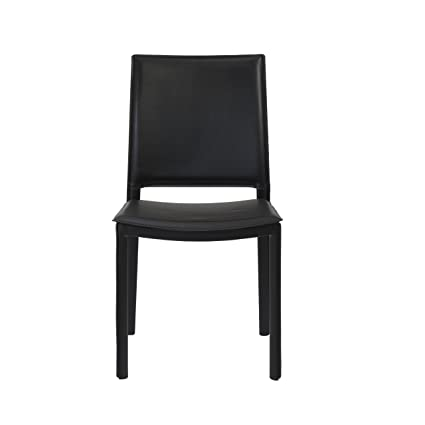 Euro Style   Kate Leatherette Dining Kitchen Side Chair, Set Of 4, Elegant  Black