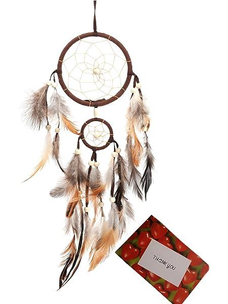 "28/"" Tree of Life Net Bead Feather Hanging Dreamcatcher Dream Catcher Decor Home"