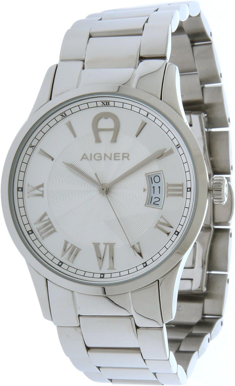 Autocomplacencia Haciendo Gran cantidad de  Amazon.com: Aigner A32753 Mens Watch Silver: Watches