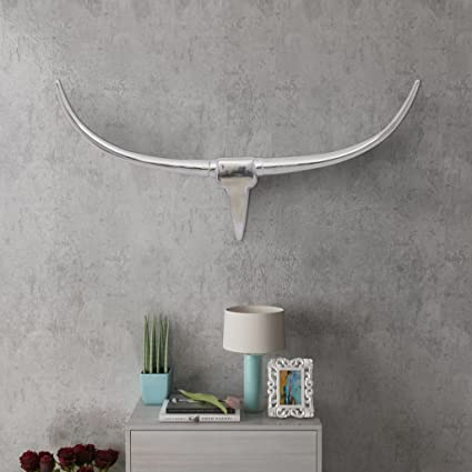 Amazon.com: Chloe Rossetti Wall Mounted Aluminum Bull's Head ... on