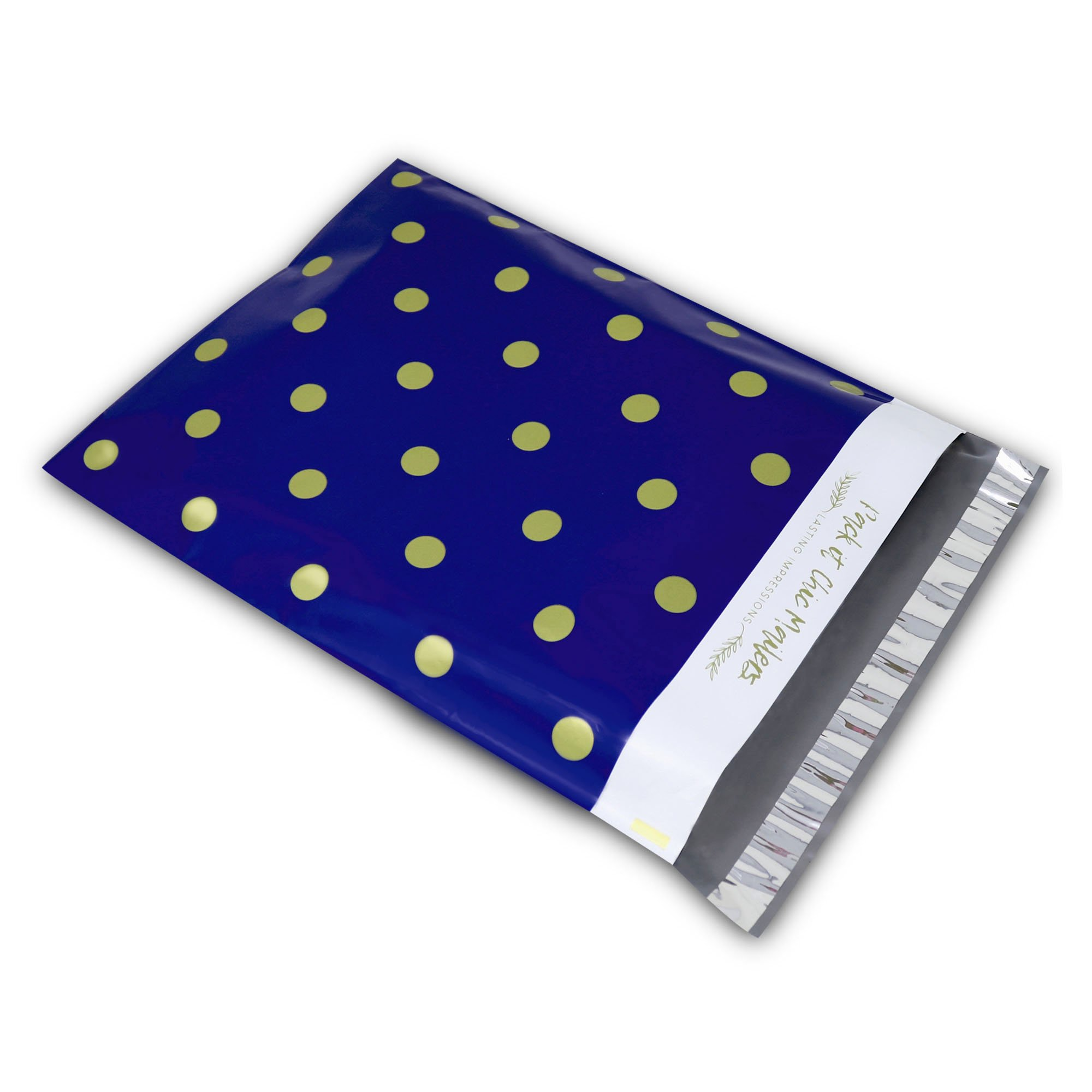 "[ 100-10"" X 13"" ] Navy Polka Dot - Thank You Design Custom Poly Mailer Envelope Shipping Bags, Tear Proof & Powerful Self Seal Adhesive Postal Bags (Other Designs Available) - Pack It Chic by Pack It Chic (Image #4)"