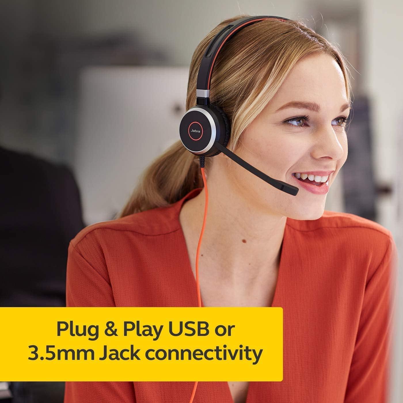 Jabra Evolve 40 Professional Wired Headset,