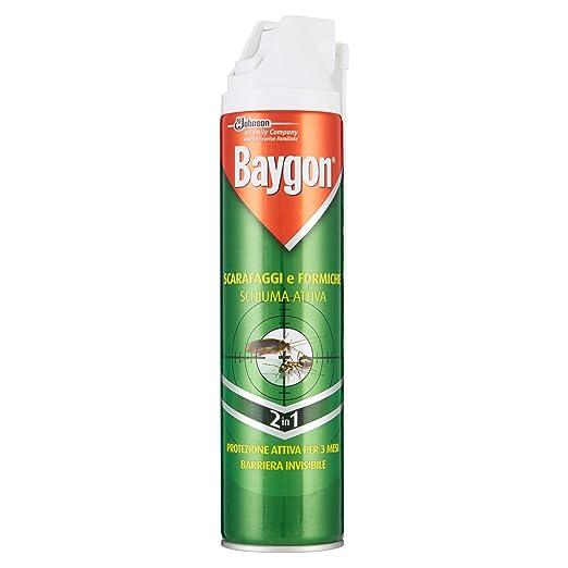 6 opinioni per Baygon Scarafaggi e Formiche Schiuma Attiva Spray- 400 ml