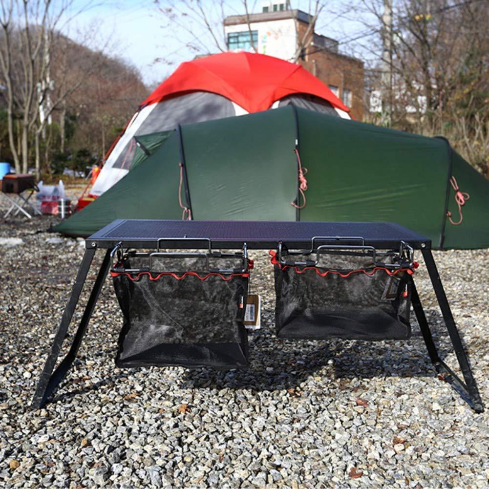 Aire Libre Camping Wire Bracket Escritorio de Almacenamiento Colgando de Malla de Malla Bolsa de Barbacoa Herramientas de Cocina Organizador de la Bolsa Aesy Picnic Mochila