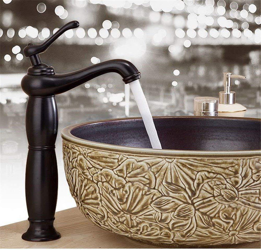 JingJingnet シンクミキサータップ浴室の台所の洗面器の水栓漏れ防止保存水アンティークアンティーク盆地ホットとコールドソリッドブラス (Color : A) B07S3PYJLT A