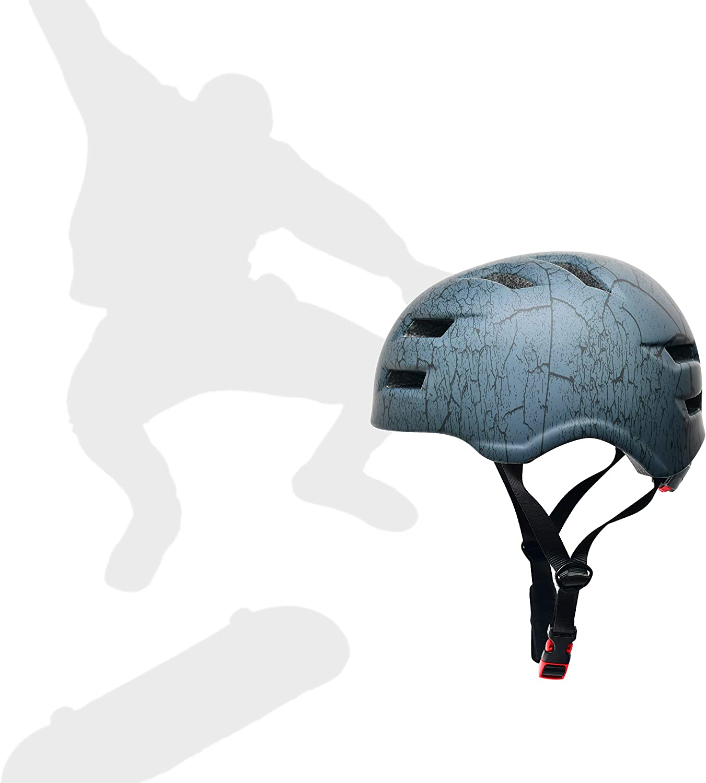 SkullCap/® Skateboard /& BMX Casque De V/élo pour Adultes /& Casque Trottinette Electrique Adulte