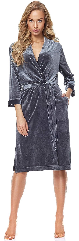 Bellivalini Vestaglia Corta in Velluto Donna BLVLL9116
