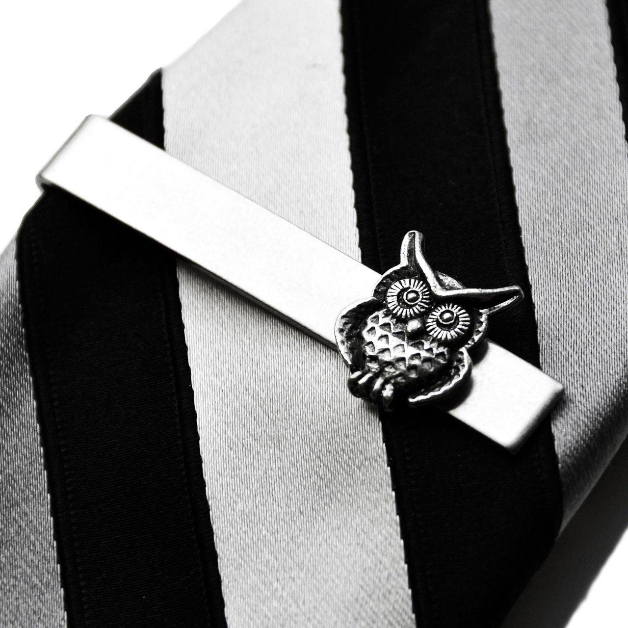Quality Handcrafts Guaranteed Owl Tie Clip