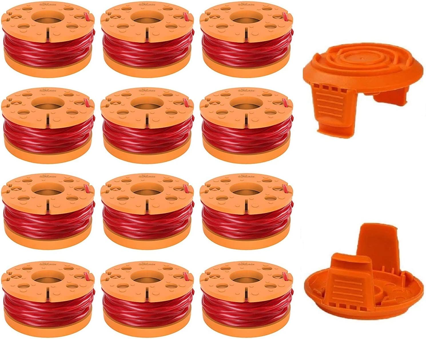9-Pack String Trimmer Lines for Worx WA0010 Replacement Trimmers Spool Line,for Grass Trimmer Edger 10ft