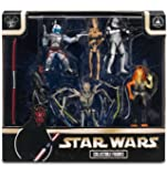 Disney Star Wars Exlusive Prequel Set Villians Figurine Playset Darth Maul General Grevious