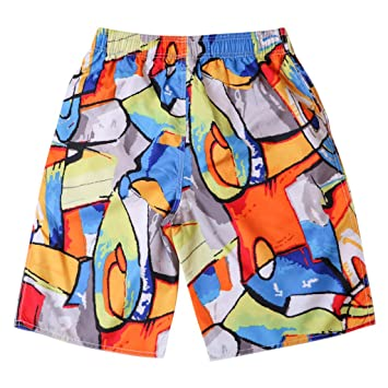 00a771867a NUWFOR Men's Shorts Swim Trunks Quick Dry Beach Surfing Running Swimming  Watershort XXL Waist:33.1