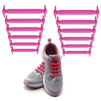 0a618cc409dce0 LattoGe No Tie Silicone Shoelaces Lace Lock Bands Kids