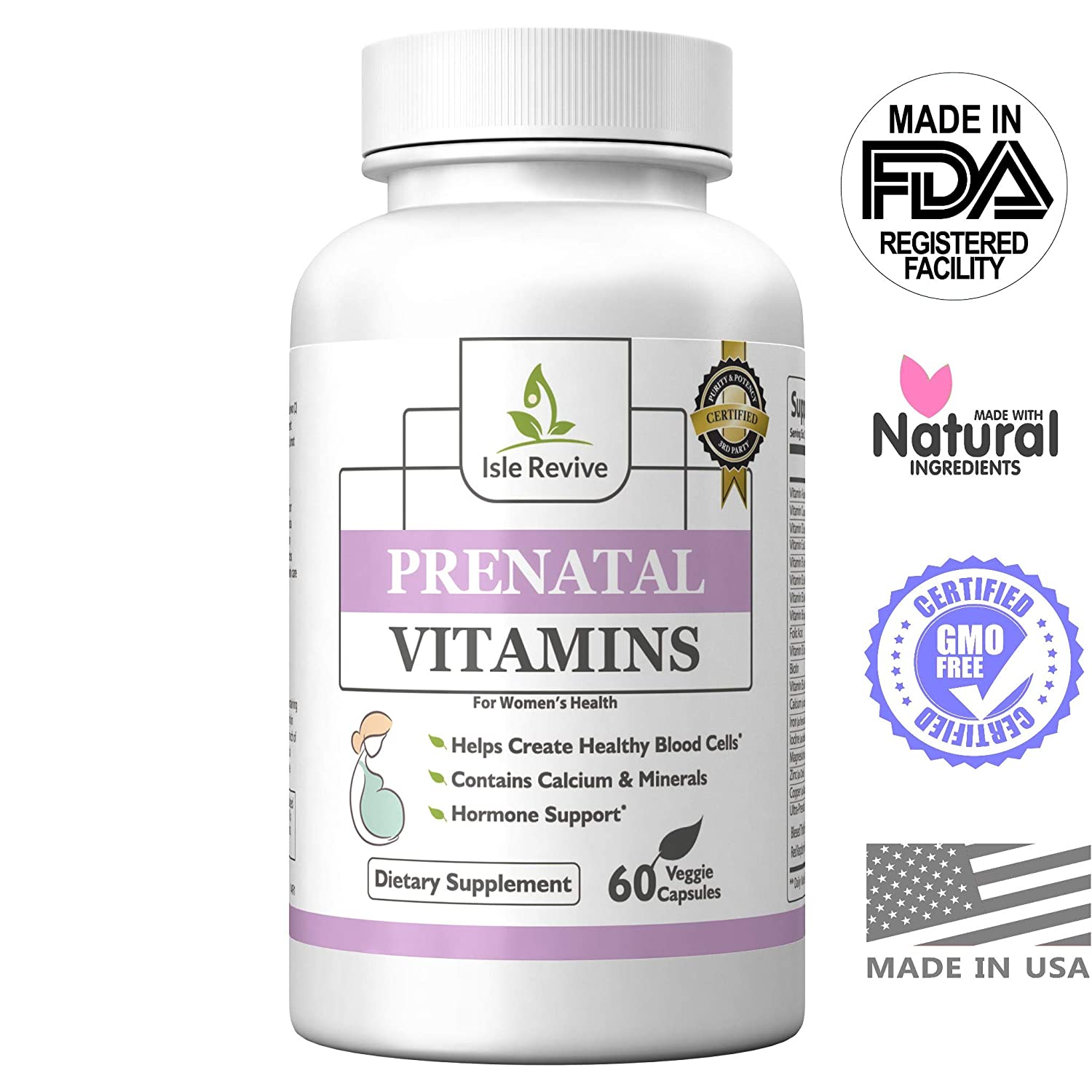 Amazon.com: Prenatal Vitamins One a Day Supplement High in Folic Acid - Balanced Multivitamin with Calcium, Iron, Vitamin B Complex Boosts Energy, ...