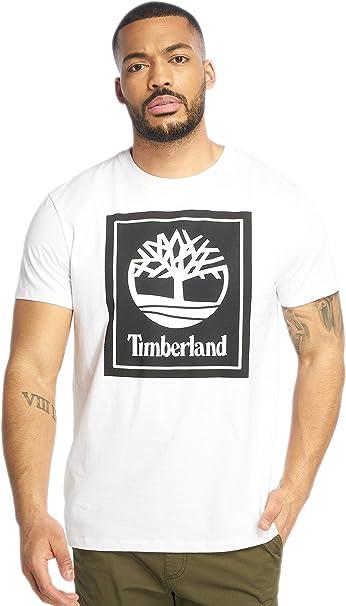 Timberland Hombres Camisetas YCC Stack Logo ECL: Amazon.es: Ropa y accesorios