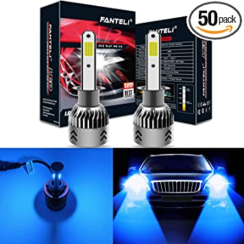LED 50W 9007 HB5 Blue 10000K Two Bulbs Head Light Replacement Show Off Road