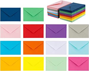 "140 Mini Envelopes 14 Assorted Colors, Gift Card, Business Card Envelopes 4""x 2.7"""
