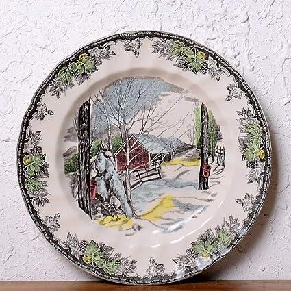 Amazon QPGGPPlate Ceramic Tableware Decorative Plates Salad Cool Decorative Platters And Bowls