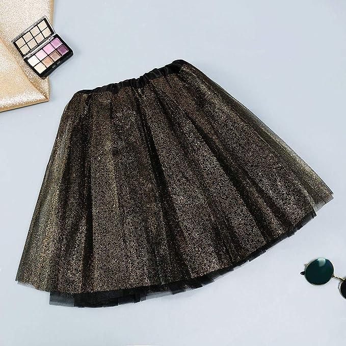 7fe78f37c1 Women Princess Skirt Classic Elastic Waist Sequin Ballet Tutu Skirt ...