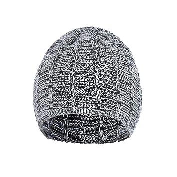 daad05129bb Amazon.com  Sikye Men s Winter Wool Cap - Baggy Beanie Hat Crochet ...