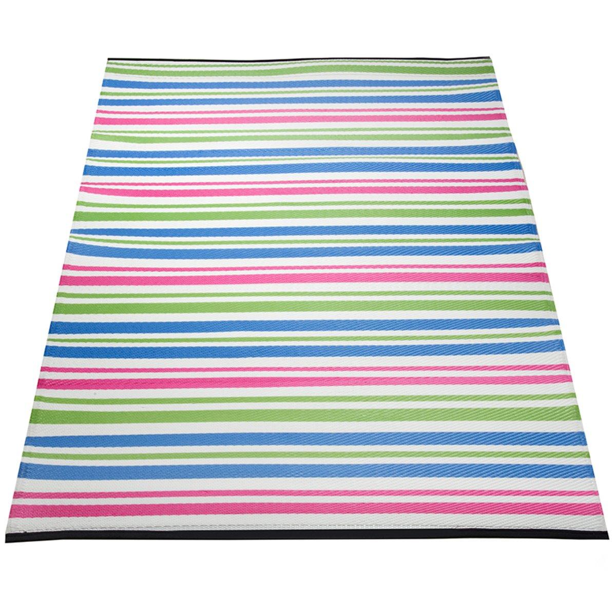 Yankee Trader 4' X 6' Indoor/Outdoor Decorative Reversible Patio Carpet Rug, Pattern 12