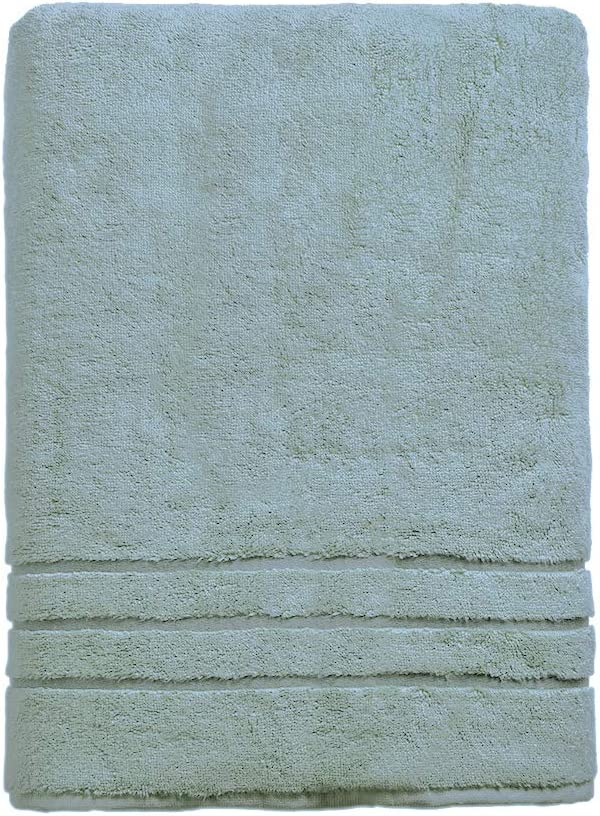 Cariloha 600 GSM Bamboo & Turkish Cotton Bath Sheet - Odor Resistant, Highly Absorbent - Includes 1 Towel - 1-Year Limited Quality Warranty - Ocean Mist: Kitchen & Dining