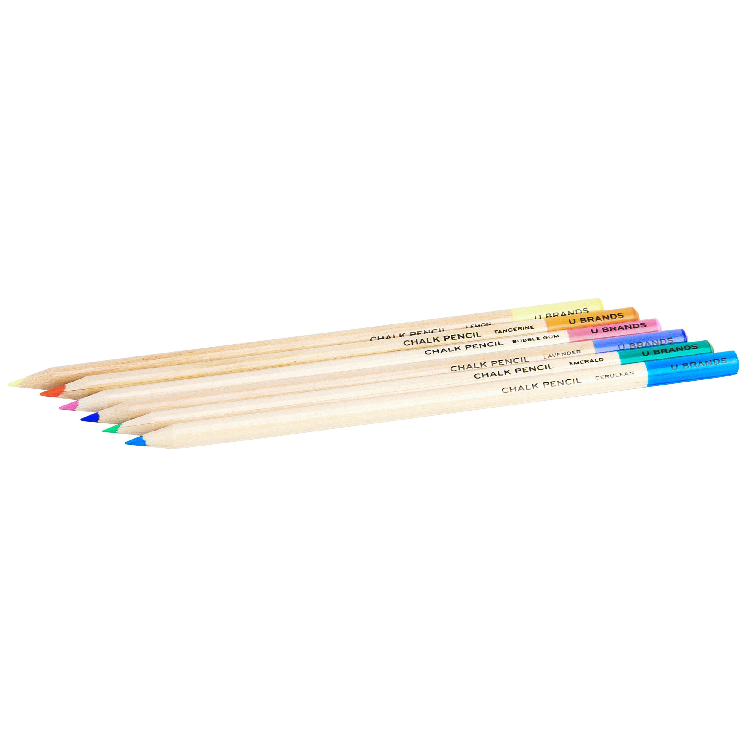 U Brands Chalkboard Colored Pencils, Assorted Colors, 6-Count by U Brands (Image #3)