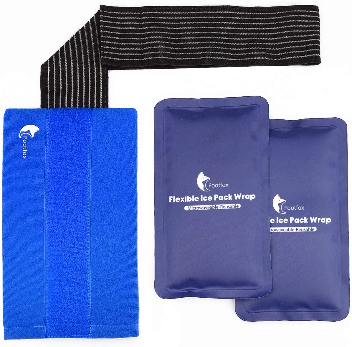 Amazon.com: Gel Ice Packs for Injuries (2-Piece Set) with Adjustable Wrap,  Reusable Hot or Cold Pack for Shoulder, Knee, Arm, Neck, Elbow, Back,  Ankle, Therapy & More: Health & Personal Care