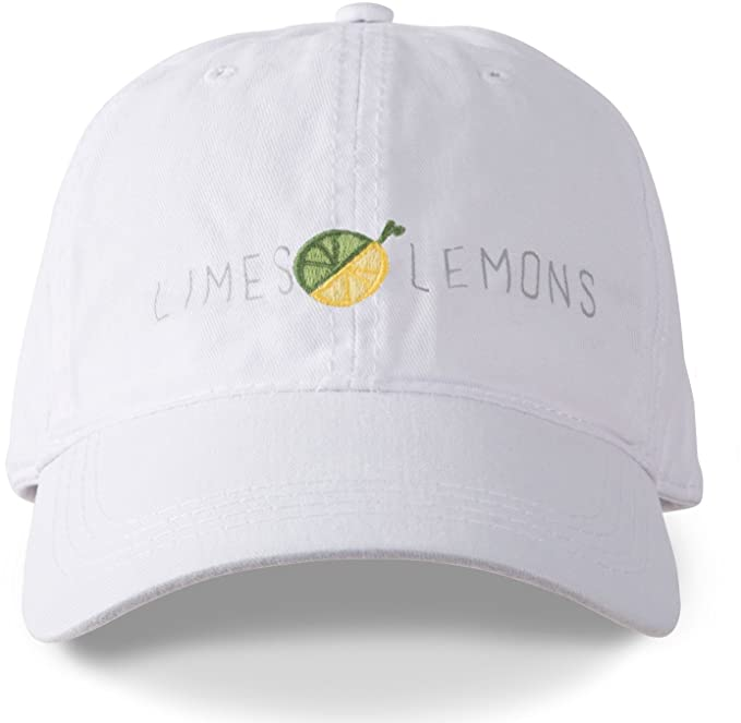 Livin' on the Wedge Limes Lemons Embroidered Logo Baseball Hat