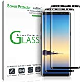 amFilm (2 Pack) Glass Screen Protector for Samsung Galaxy Note 8, Full Screen Coverage, 3D Curved Tempered Glass, Dot Matrix