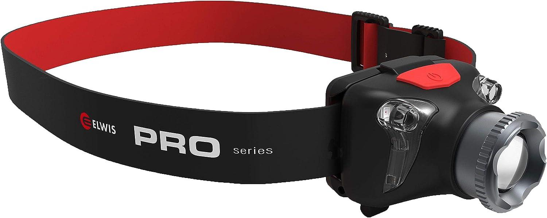 Elwis H2-R Head Torch Lightweight Rechargeable Pro 420 Lumen Optical Lens Wide
