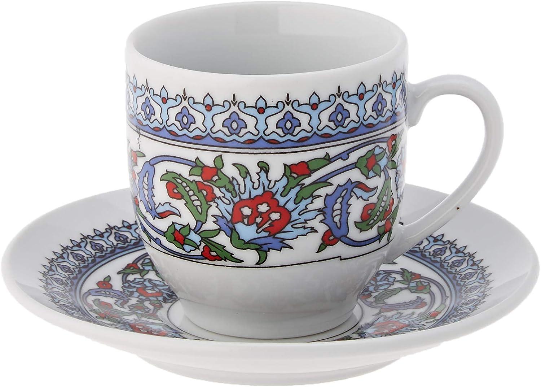 The Turkish Emporium Juego de 12 platillo de café de Porcelana ...