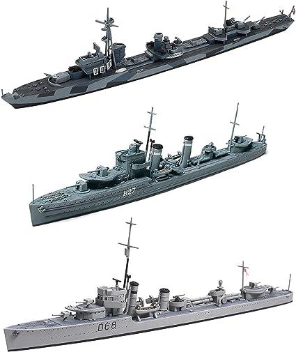 US and German Navy Destroyers 2 Tamiya Ship Models USN DD445 Fletcher and German Z Class Destroyer Z37-39 Japan Import BJS